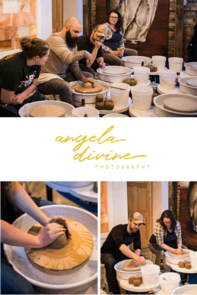 These pictures are from a brand photography session for St. Paul artist Jason Kapping of Pig's Eye Pottery. This session was a great way to show off his remodeled studio/gallery and his new group pottery classes. | Angela Divine Photography | Minneapolis wedding + brand photographer | #branding #brandphotography #minnesota #ceramics #pottery | https://angeladivinephotography.com/pigs-eye-pottery-st-paul-brand-session