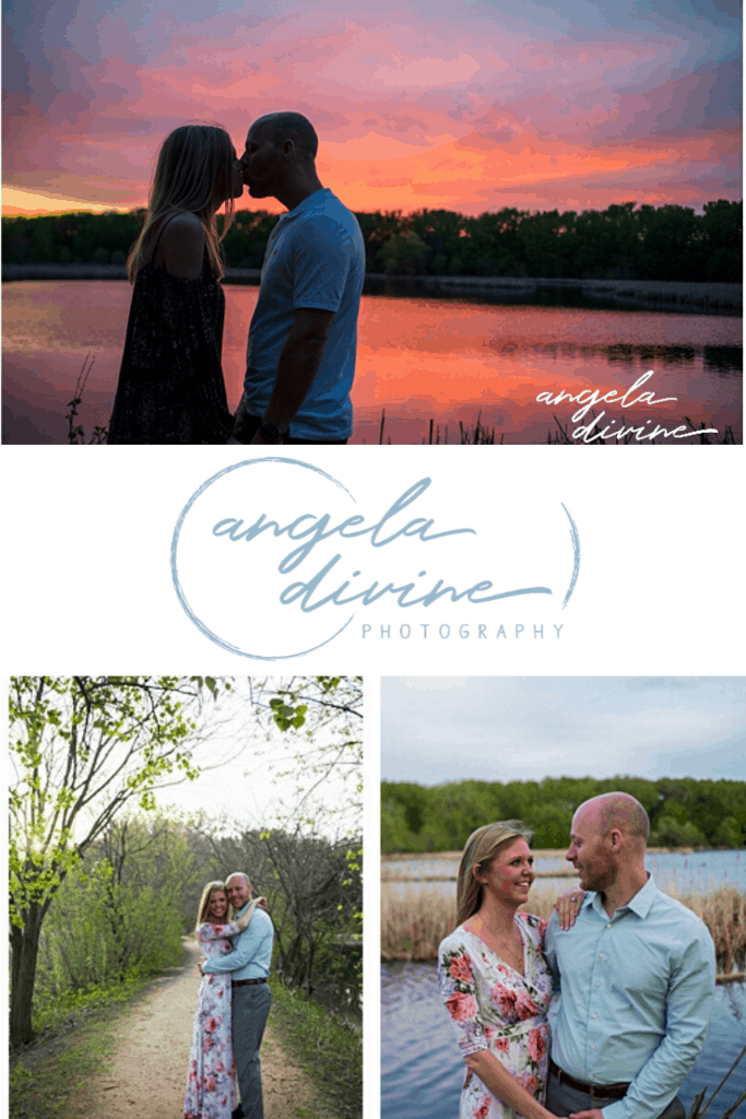 These photos are from a spring engagement session at Wood Lake Nature Center just as the sun was setting. Visit my blog for more photos from this lovely photo session. | Angela Divine Photography | Minneapolis wedding + brand photographer | #engagementshoot #engagementsession #springengagementphotos | https://angeladivinephotography.com/wood-lake-nature-center-engagement/