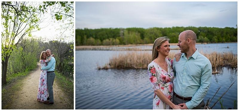 Wood Lake Nature Center Engagement trail and lake