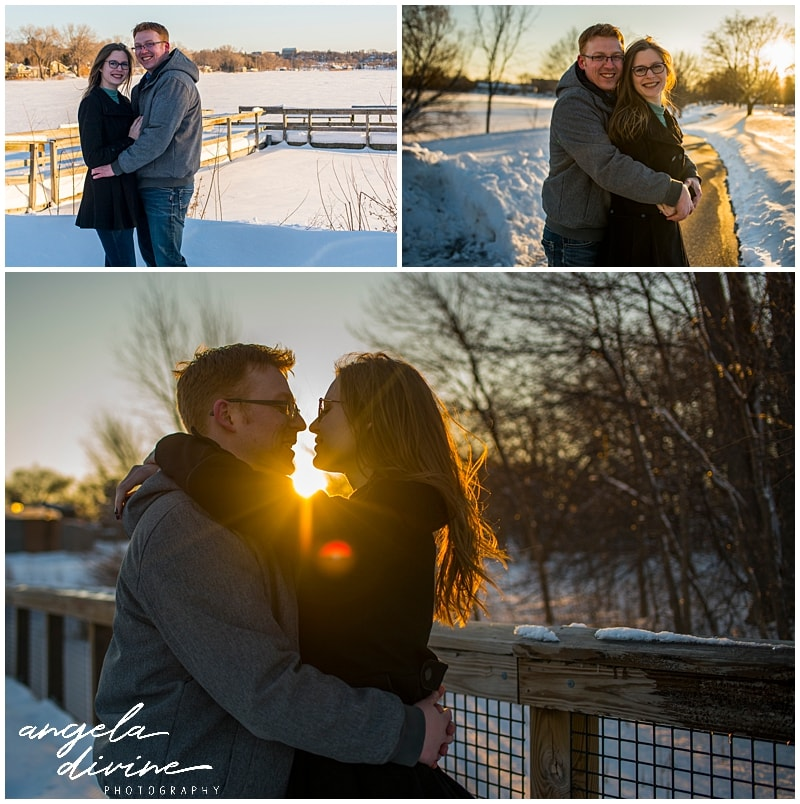 Wicked Wort Brewery Engagement Sunset at Crystal Lake
