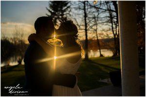 Charthouse Lakeville Wedding couple kissing
