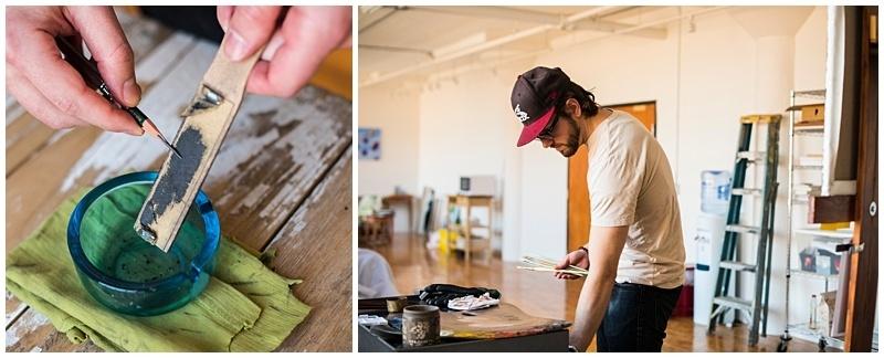 minneapolis artwork photographer sharpening pencils