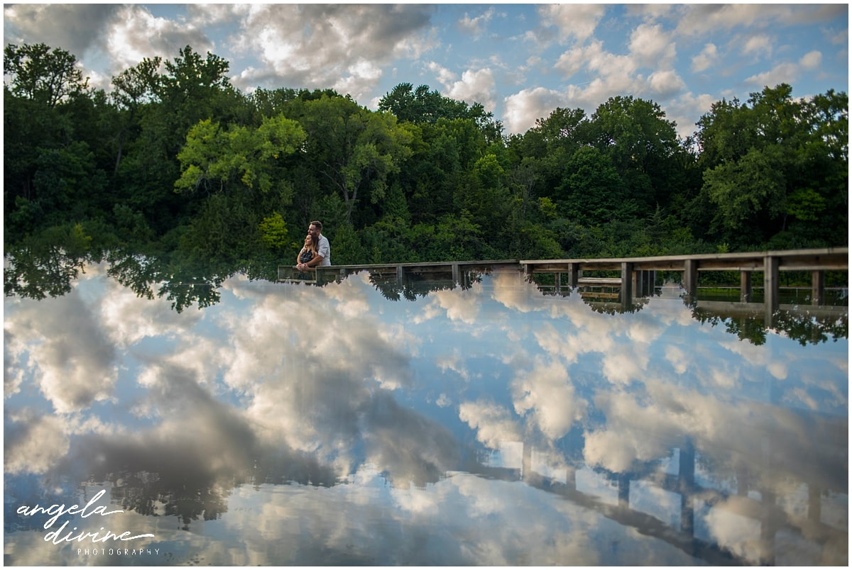 Firemen's Park Chaska Engagement Session overlooking water