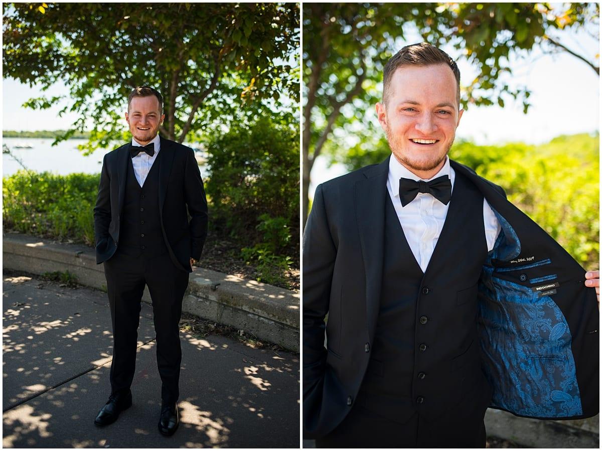 Loring Restaurant Wedding groom
