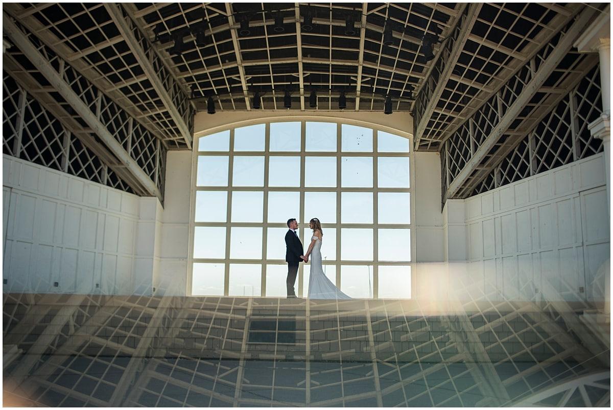 Loring Restaurant Wedding industrial window