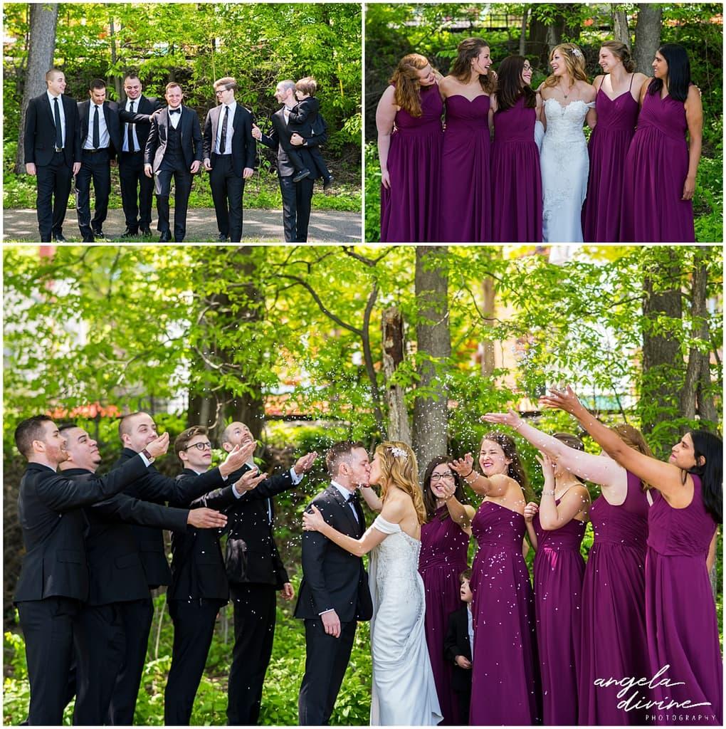 Loring Restaurant Wedding bridal party