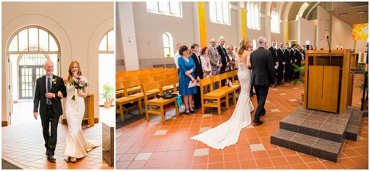 Loring Restaurant Wedding bride's entrance