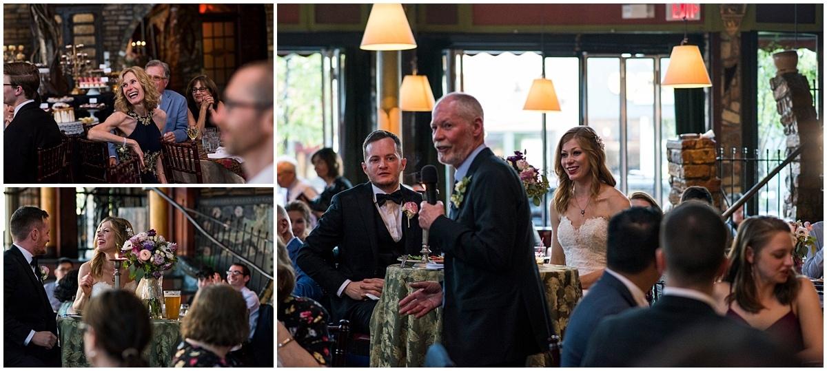 Loring Restaurant Wedding toasts