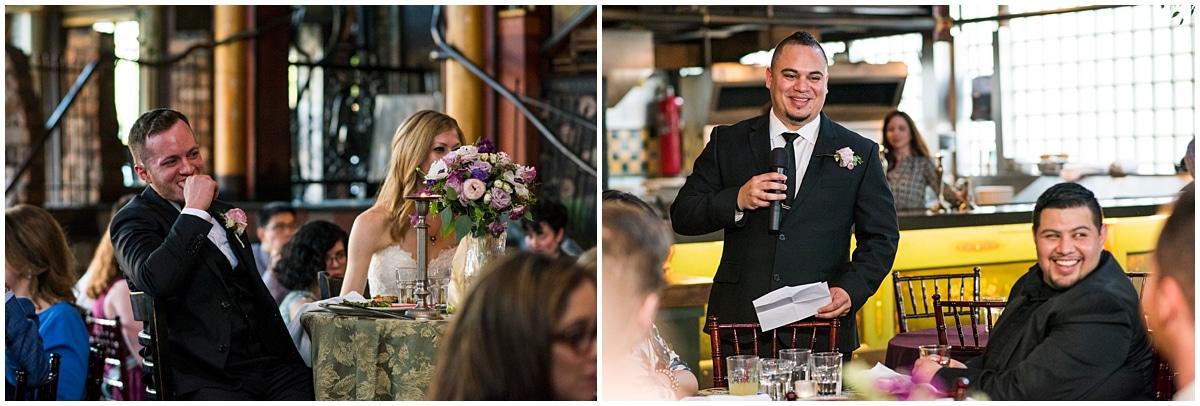Loring Restaurant Wedding best man toast