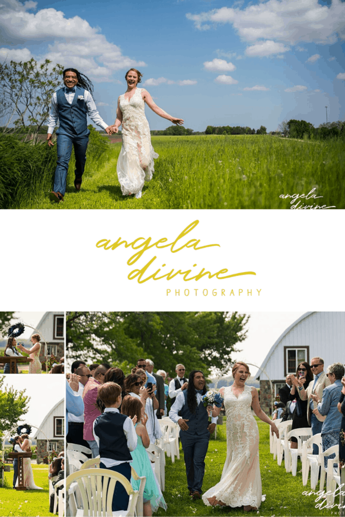 These photos are from a spring wedding and reception at the Rubies & Rust farm in Belle Plaine, MN. Visit my blog for more photos from this rustic wedding ceremony and reception. | Angela Divine Photography | Minneapolis wedding + brand photographer | #wedding #springwedding #rubiesandrust #farmwedding #weddingphotos | https://angeladivinephotography.com/rubies-and-rust-wedding/