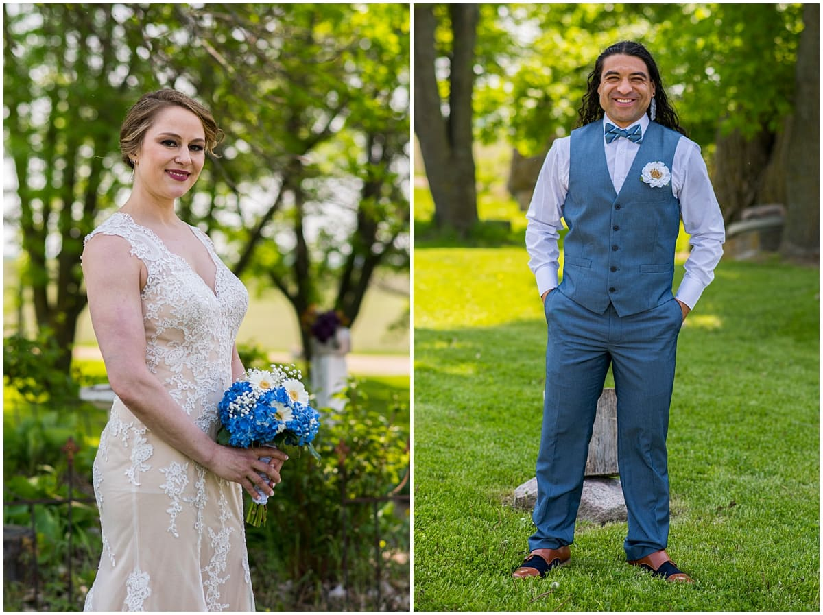 Rubies and Rust Wedding bride and groom