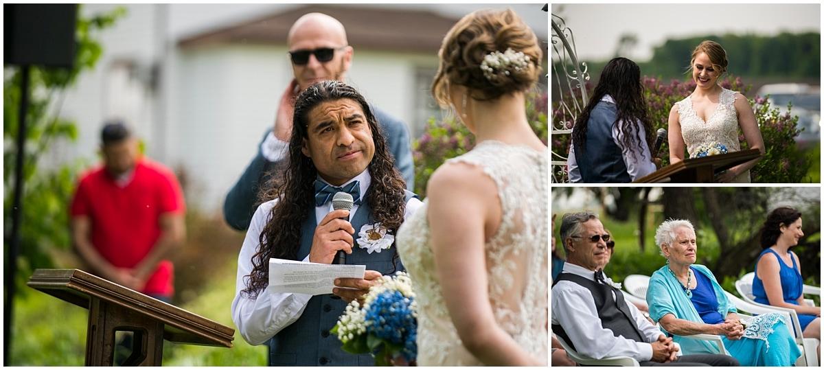 exchanging wedding vows