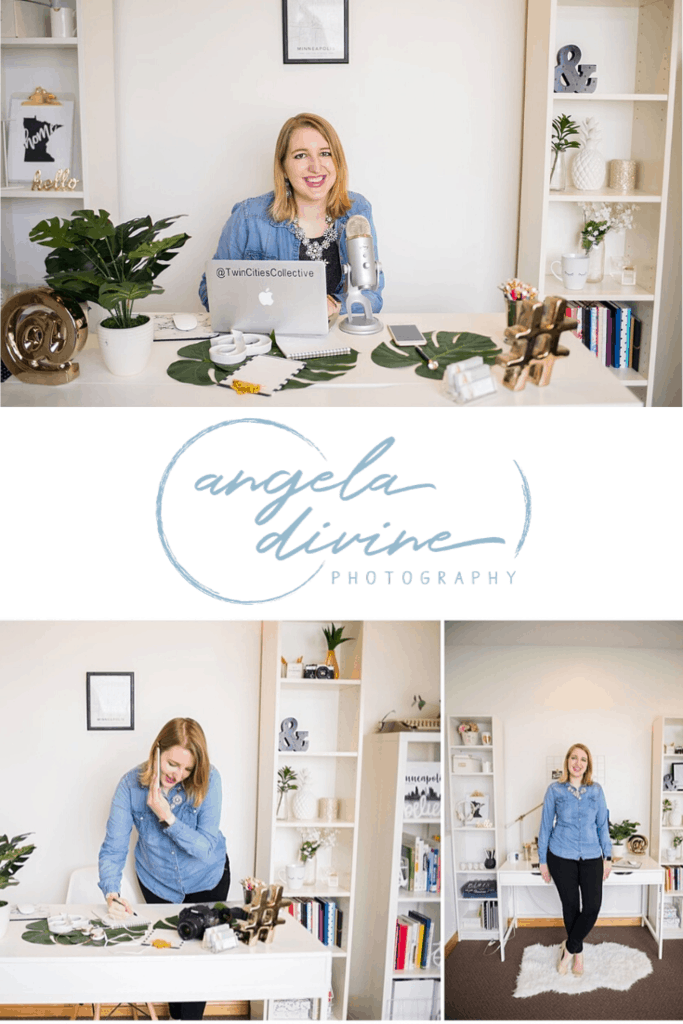 Here are some pictures from a brand photography session I did for Jenna Redfield, creator of Twin Cities Collective. My favorite images from her session and the reasons WHY we photographed what we did are on the blog. | Angela Divine Photography | Minneapolis wedding + brand photographer | #branding #brandphotography  #minnesota #twincities | https://angeladivinephotography.com/twin-cities-collective-brand-photography-session/