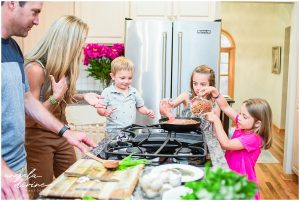 Organic Food Brand Photography family cooking together
