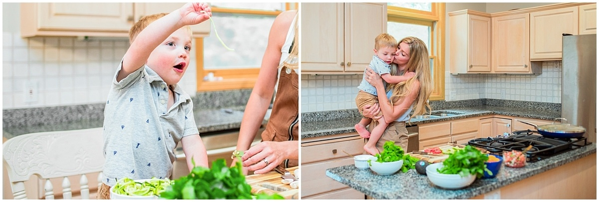 Organic Food Brand Photography cooking with kids