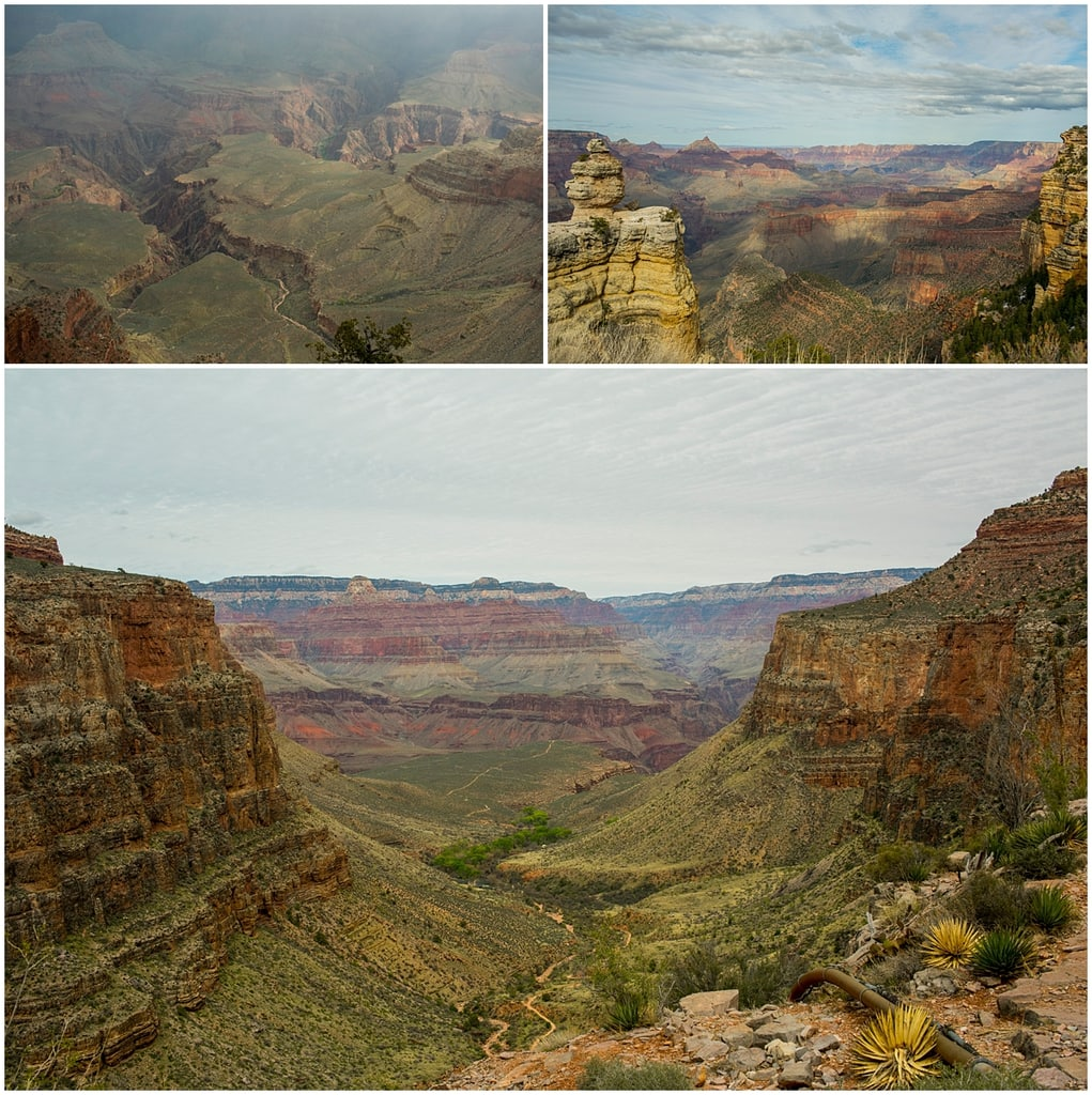 Three miles into the Grand Canyon