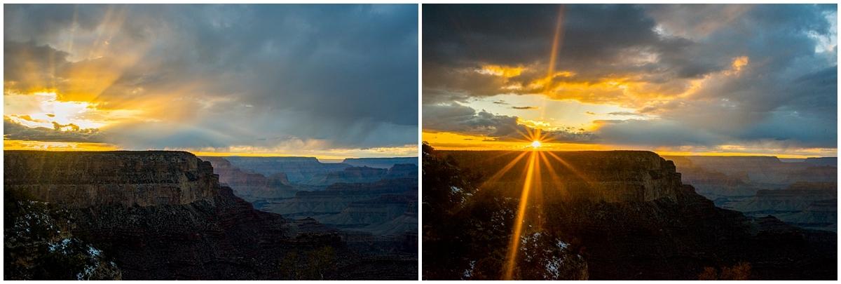 South Rim Grand Canyon Sunset