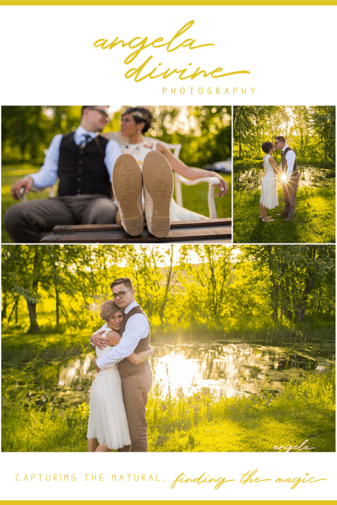 These pictures are from a backyard wedding I photographed in Northfield, Minnesota last summer. Visit my blog for more photographs from their ceremony and reception. | Angela Divine Photography | Minneapolis wedding + brand photographer | #wedding #minnesota #summerwedding #weddingphotographer | https://angeladivinephotography.com/northfield-backyard-wedding-kiri-aaron/