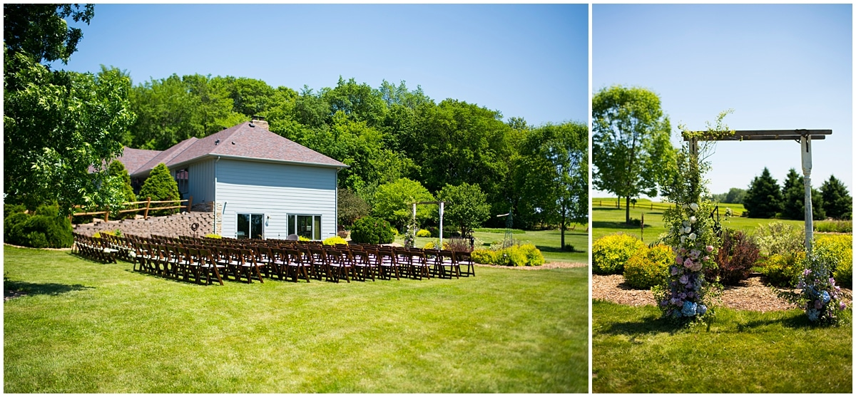 outdoor wedding seating and trellis