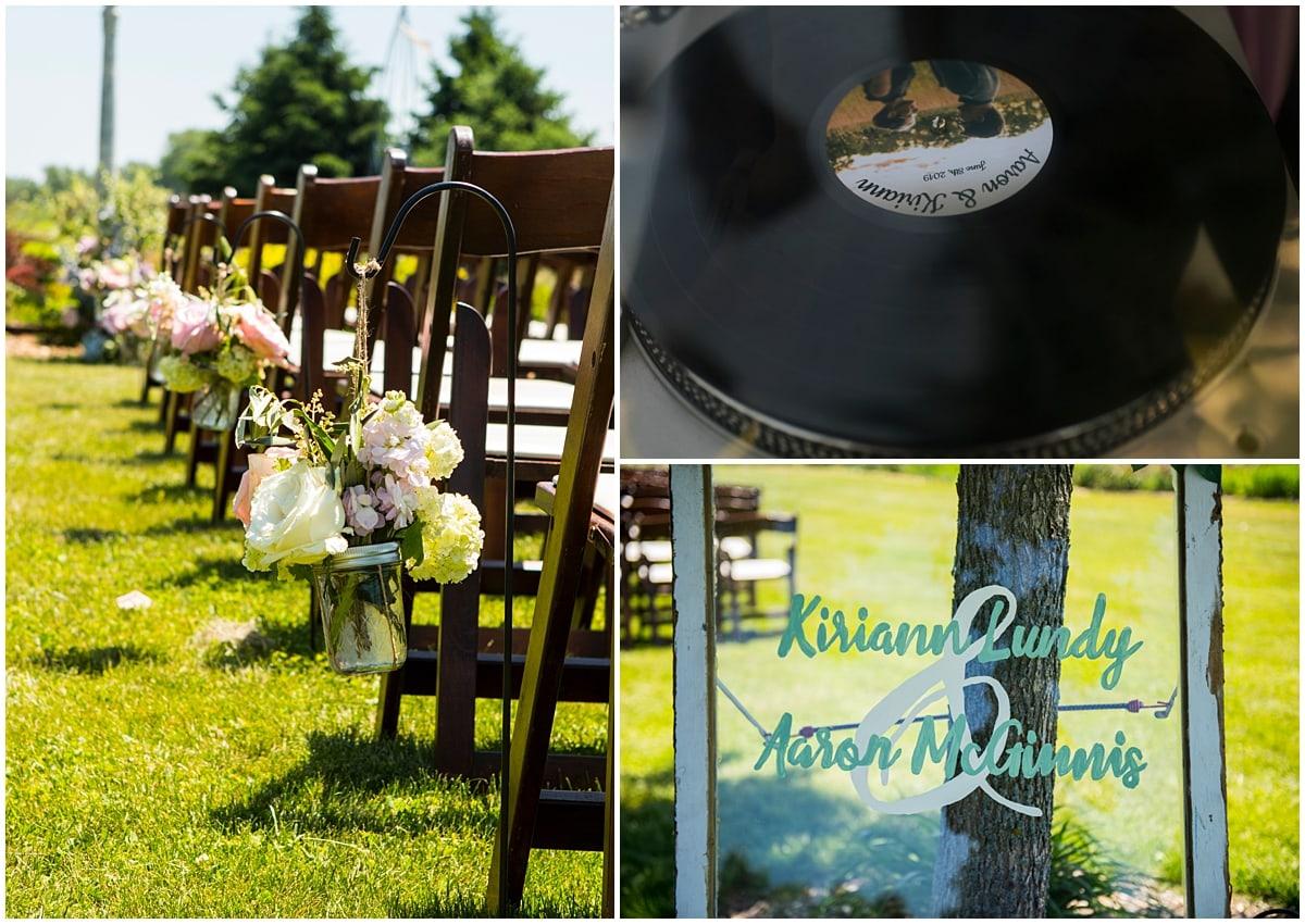 Northfield backyard wedding décor