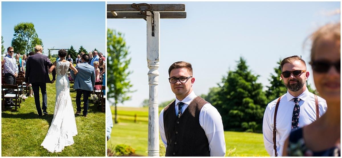 Northfield backyard wedding first look