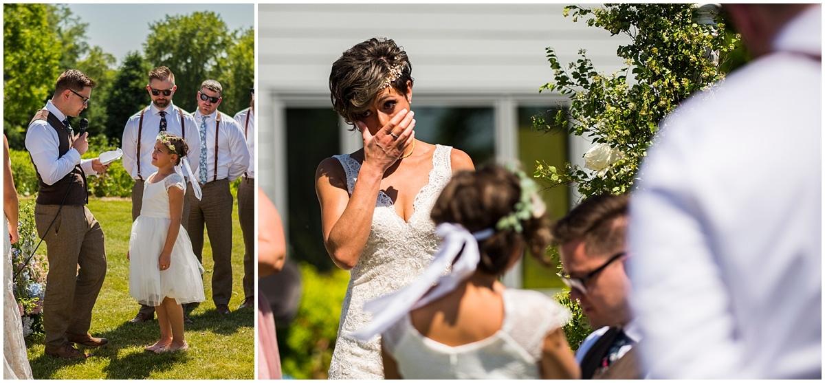 groom speaks to bride's daughter