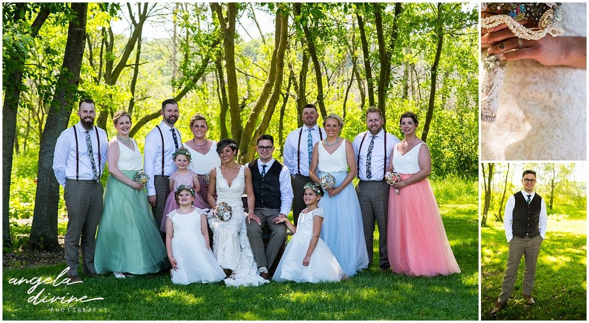Northfield backyard wedding bridal party