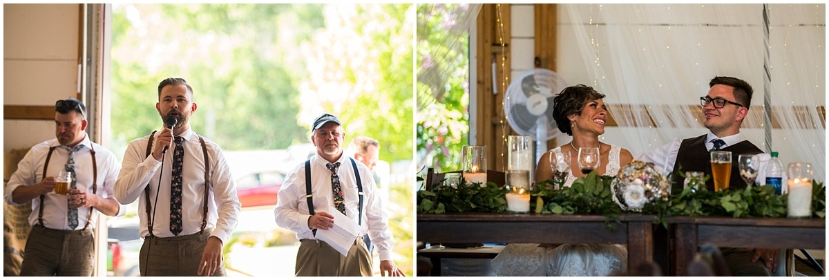 Northfield backyard wedding toasts