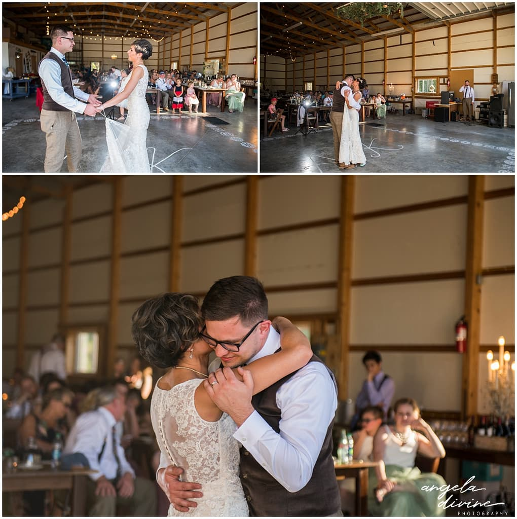 Northfield backyard wedding first dance