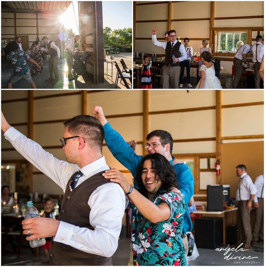 Northfield backyard wedding dancing