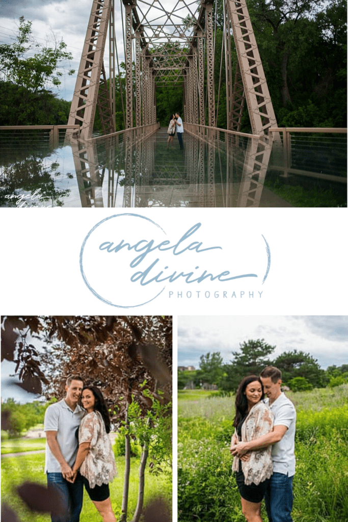 These photos are from a summer engagement session at Boom Island Park in North East Minneapolis. Visit my blog for my favorite photos from their photo session.   Angela Divine Photography   Minneapolis wedding + brand photographer   #engagementshoot #engagementsession #summerengagementphotos   https://angeladivinephotography.com/boom-island-park-engagement-photography-samantha-shawn