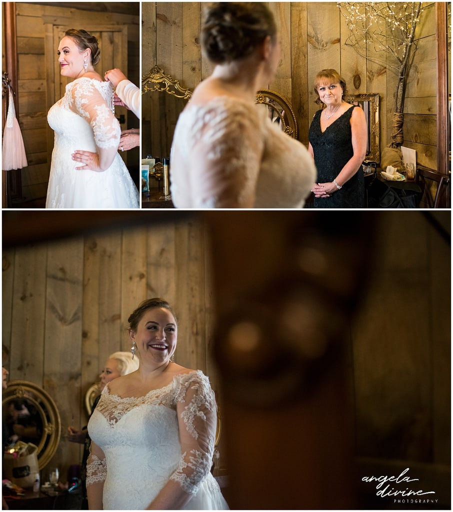 Creekside Farm Wedding bride getting ready