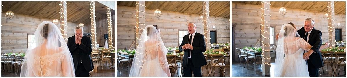 Creekside Farm Wedding bride with father