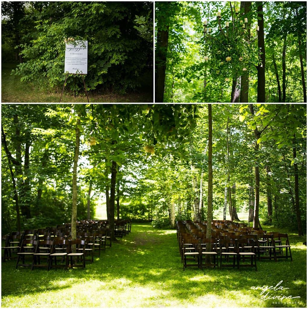 Creekside Farm Wedding ceremony seating