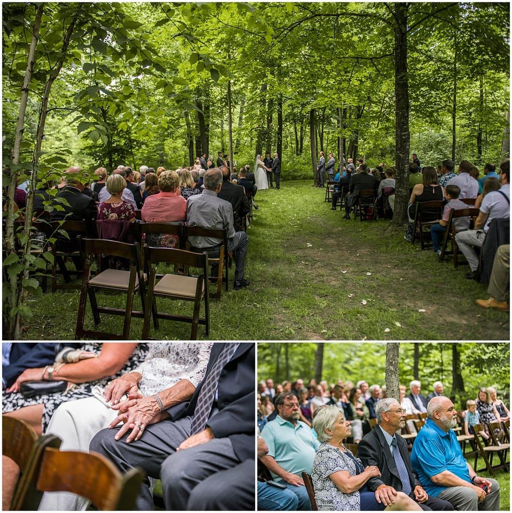 Creekside Farm Wedding ceremony
