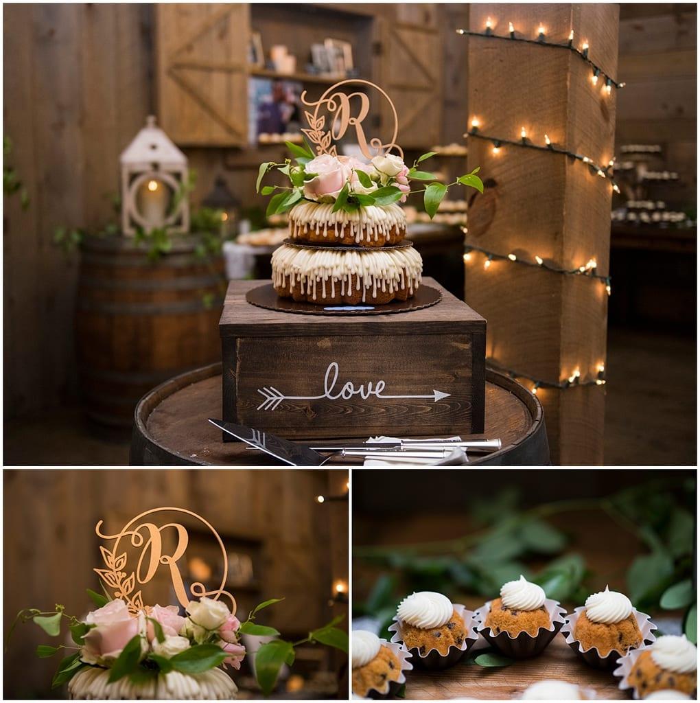 Creekside Farm Wedding cake and desserts