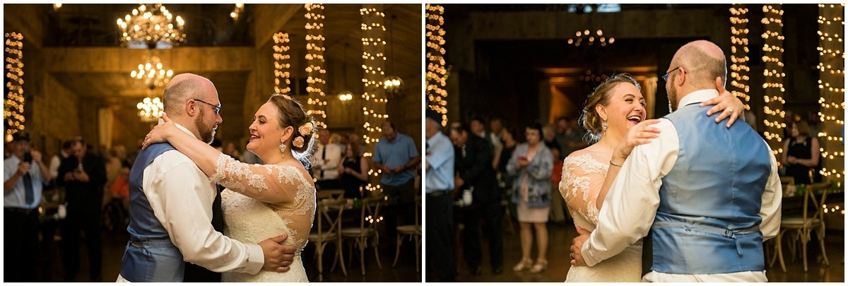 Creekside Farm Wedding first dance