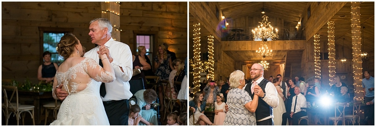 bride and groom dance with parents