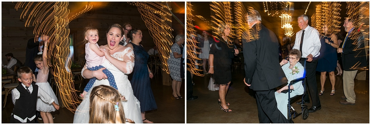 Creekside Farm Wedding dancing