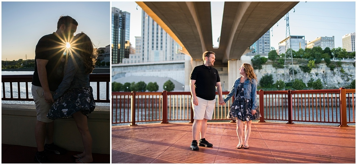 engagement session ideas for Minnesota Wild Fans St. Paul skyline