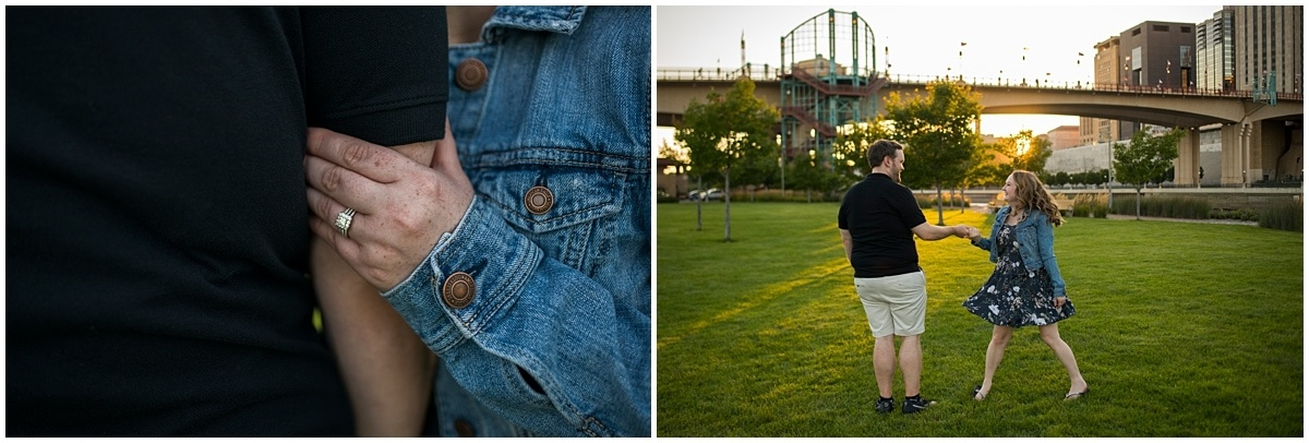engagement session ideas for Minnesota Wild Fans engagement ring