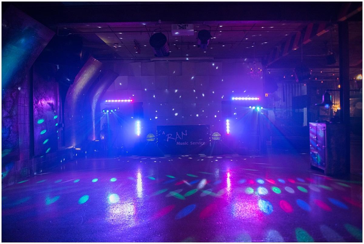dance floor lights in the dark