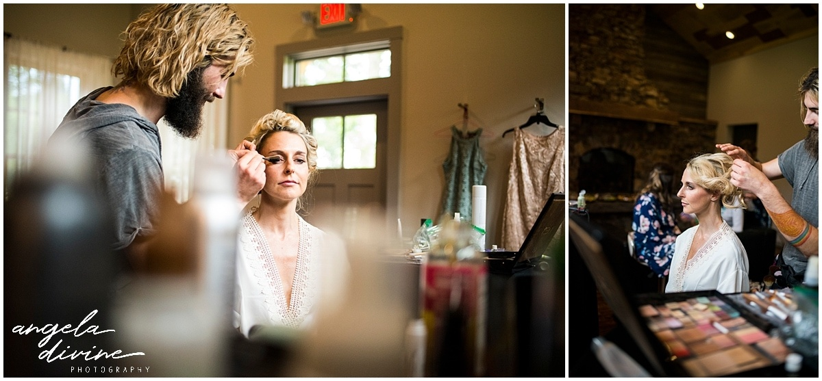 Gardens of Castle Rock Wedding hair and makeup