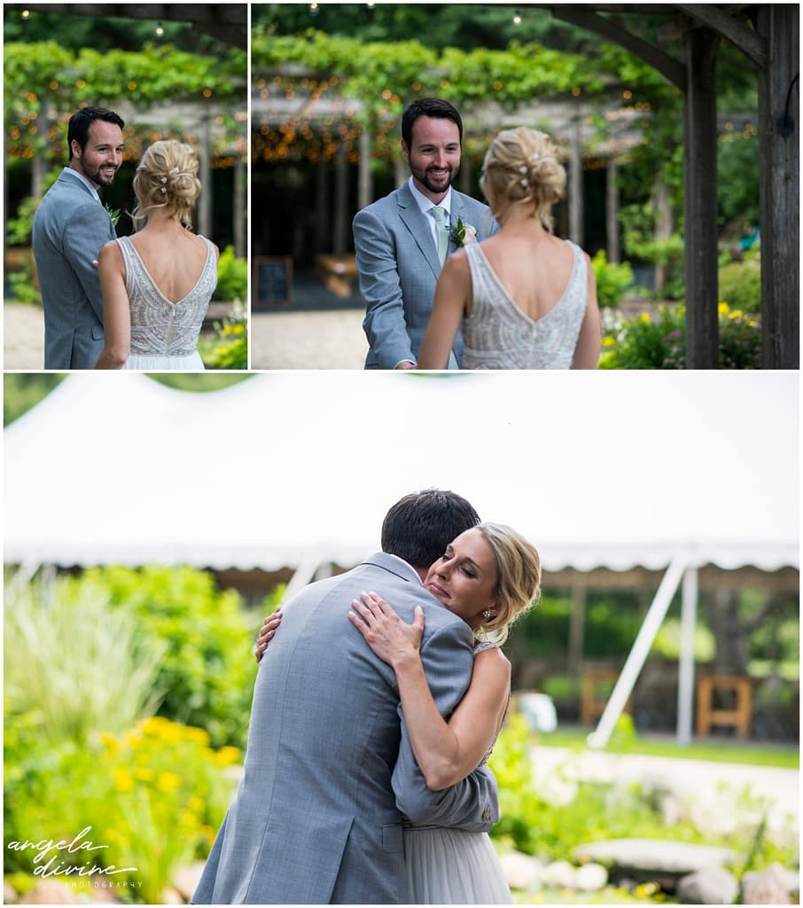 Gardens of Castle Rock Wedding first look
