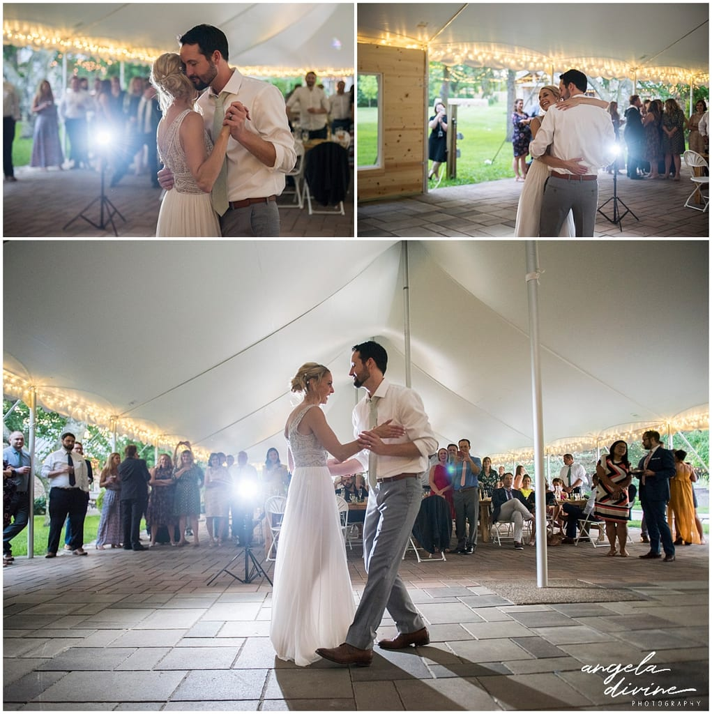 Gardens of Castle Rock Wedding first dance