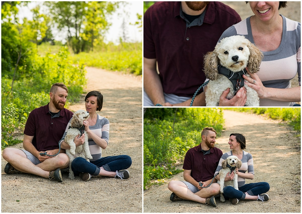 Minneapolis Dog Photographer couple with pet dog