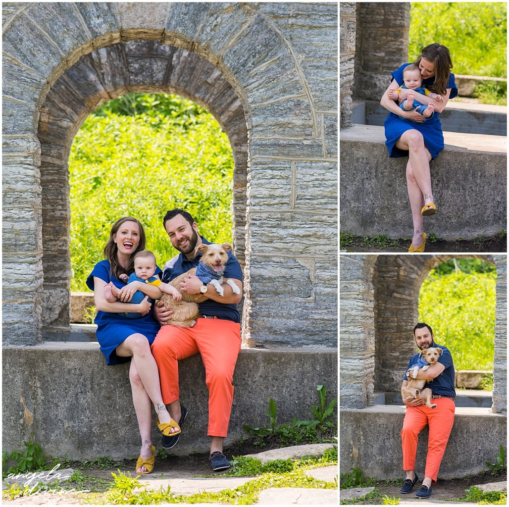 Minneapolis Dog Photographer couple with baby and dog