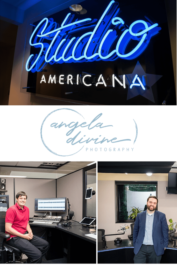 Studio Americana is a recording studio for Minneapolis podcasts and audiobooks. I was invited into their newly redone space for a podcast photo shoot for their podcasters but also Studio Americana's website.  | Angela Divine Photography | Minneapolis wedding + brand photographer | #branding #podcast #brandphotography | https://angeladivinephotography.com/podcast-photo-shoot