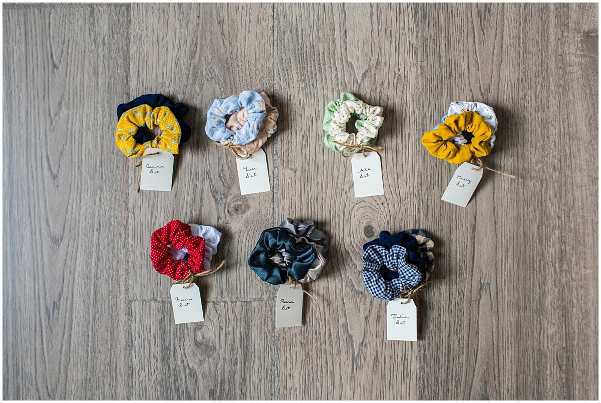 Minnesota product photography scrunchie sets