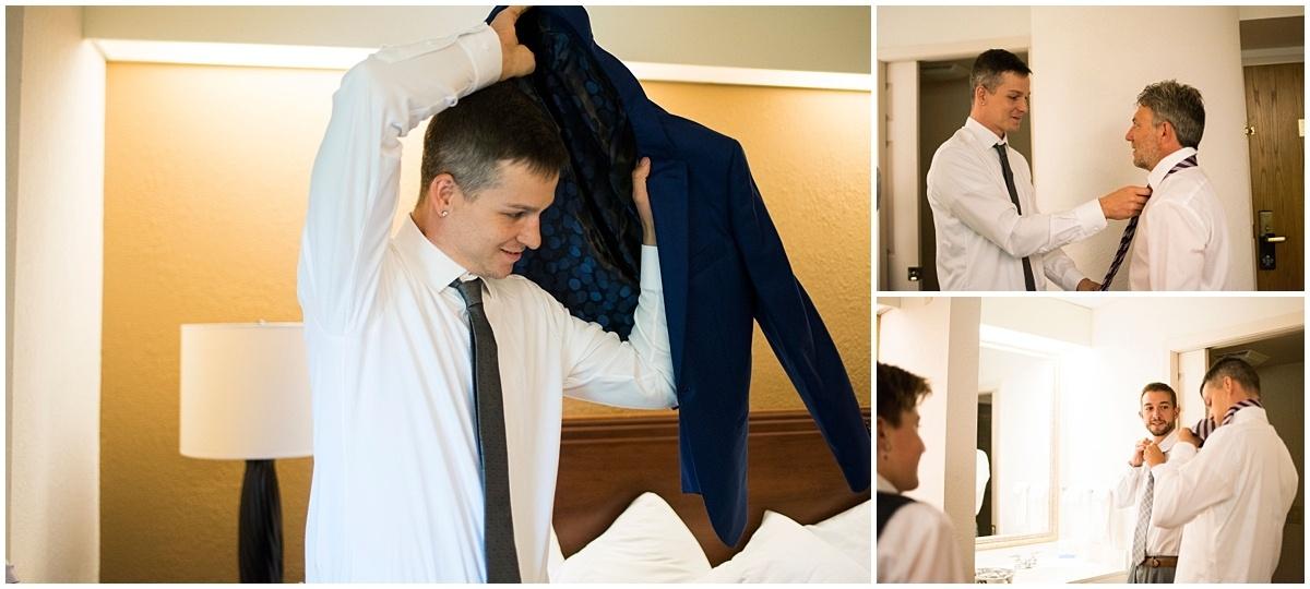 Cindyrella's Wedding Garden groom gets ready